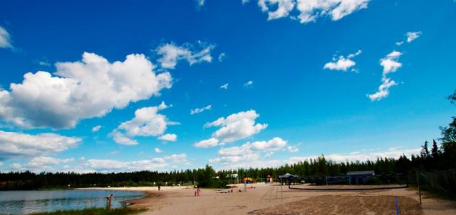 Long Lake Beach at Fred Henne Territorial Park